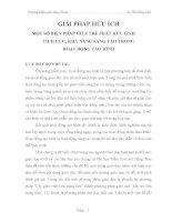 skkn MỘT SỐ BIỆN PHÁP GIÚP TRẺ PHÁT HUY TÍNH  TÍCH CỰC, KHẢ NĂNG SÁNG TẠO TRONG HOẠT ĐỘNG TẠO HÌNH