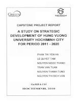 A study on strategic development of Hung Vuong University Ho Chi Minh city for period 2011 - 2020