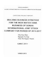 Building business strategy for the inox water tank business of Son Ha International Joint Stock Company for period of 2013-2017