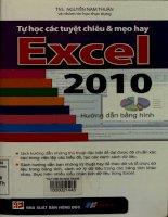Tự học các tuyệt chiêu và mẹo hay Excel 2010 Hướng dẫn bằng hình