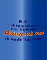Hãy phân tích vẻ đẹp hình tượng của cây xà nu trong truyện ngắn Rừng xà nu của Nguyễn Trung Thành