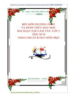 ĐỔI MỚI PHƯƠNG PHÁP  VÀ HÌNH THỨC DẠY HỌC  BÀI SOẠN TẬP LÀM VĂN  LỚP 2  HỌC KÌ II THEO CHUẨN KTKN MÔN HỌC