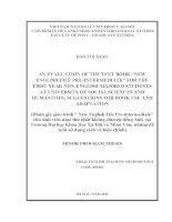 Đánh giá giáo trình  New English File Pre-intermediate  dành cho sinh viên không chuyên Tiếng Anh năm thứ nhất Trường Đại học Khoa Học Xã Hội và Nhân Văn  những