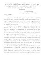 SKKN Phó Hiệu Trưởng Chuyên Môn theo dõi kiểm tra và nâng cao hiệu quả việc sử dụng đồ dùng dạy học của giáo viên trường THCS Phú Thọ