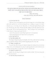XÂY DỰNG NỘI DUNG BÀI GIẢNG TRONG SÁCH GIÁO KHOA ĐỊA LÝ TỰ NHIÊN VIỆT NAM (LỚP 8) THEO HƯỚNG TÍCH CỰC HOÁ HOẠT ĐỘNG HỌC TẬP CỦA HỌC SINH