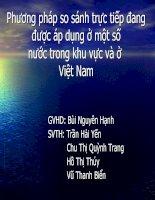Phương pháp so sánh trực tiếp trong định giá đất ở Việt Nam và một số nước trong khu vực