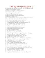 Bài tập câu bị động trong tiếng anh (part1)