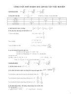Công thức nhớ nhanh khi làm bài tập trắc nghiệm vật lý lớp 12