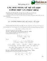 Các bài toán về số tổ hợp, chỉnh hợp và phép đếm