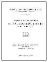SKKN Sử dụng hằng đẳng thức để giải bài tập trong chương trình toán THCS