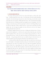 SKKN VẬN DỤNGTHÍ NGHIỆM PHÁT HUY TÍNH TÍCH CỰC CỦA HỌC SINH TRONG MỘT GIỜ DẠY HOÁ LỚP 8