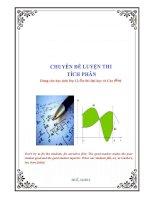 tài liệu môn toán chuyên đề về tích phân