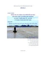 nghiên cứu đánh giá mối quan hệ giữa nước biển dâng  và xâm nhập mặn ở khu vực ven biển tỉnh quảng nam