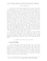 """SKKN Phát huy năng lực nói của học sinh qua tiết """" Luyện nói"""" trong môn ngữ văn THCS"""