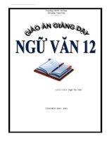 Giáo án Ngữ văn 12 (Học kì 1)