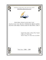 SKKN Phương pháp giải bài tập dạng P2O5 tác dụng với dung dịch kiềm dành cho học sinh giỏi ở trường THCS