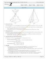 tài liệu môn toán mặt nón trụ cầu