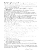 ĐỀ CƯƠNG ÔN TẬP VẬT LÍ 7 - HỌC KÌ II