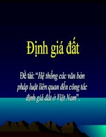 Hệ thống các văn bản pháp luật liên quan đến công tác định giá đất ở Việt Nam
