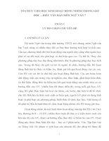 SKKN TỔ CHỨC CHO HỌC SINH HOẠT ĐỘNG NHÓM TRONG GIỜ ĐỌC – HIỂU VĂN BẢN MÔN NGỮ VĂN 7