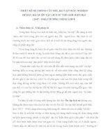 SKKN THIẾT KẾ HỆ THỐNG CÂU HỎI, BÀI TẬP TRẮC NGHIỆM ĐỂ DẠY BÀI 23- ÔN TẬP LỊCH SỬ THẾ GIỚI HIỆN ĐẠI