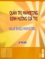 Bài giảng quản trị marketing LỰA CHỌN THỊ TRƯỜNG MỤC TIÊU