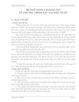 SKKN RÈN KĨ NĂNG GIẢI BÀI TẬP VỀ PHƯƠNG TRÌNH BẬC HAI