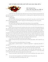 SKKN Một số biện pháp rèn chữ viết cho học sinh lớp 4