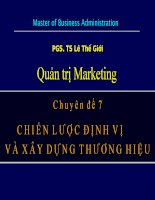Bài giảng quản trị marketing Chiến lược định vị và xây dựng thương hiệu