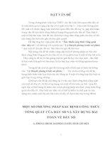 MỘT SỐ PHƯƠNG PHÁP XÁC ĐỊNH CÔNG THỨC TỔNG QUÁT CỦA DÃY SỐ VÀ XÂY DỰNG BÀI TOÁN VỀ DÃY SỐ_SKKN TOÁN 11