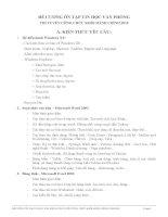 ĐỀ CƯƠNG ôn tập TIN học văn PHÒNG THI TUYỂN CÔNG CHỨC KHỐI HÀNH CHÍNH  năm 2015