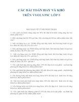 Tuyển tập các bài toán  VYOLIMPIC cho học sinh tiểu học