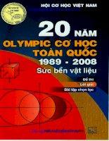 đề thi lời giải 20 năm olympic cơ học toàn quốc 1989 2008 môn sức bền vật liệu