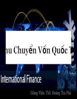 Chu chuyển vốn quốc tế _các yếu tố tác động đến tài khoản vốn