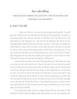 SKKN MỘT SỐ KINH NGHIỆM VỀ CÁCH THỨC TIẾN HÀNH MỘT CUỘC SINH HOẠT SAO NHI ĐỒNG
