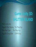 bài tập lớn môn đồ họa và hiện thực ảo: game Unity3D shutter island