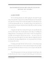 SKKN KINH NGHIỆM DÙNG BẢNG BIỂU Ở BÀI ÔN TẬP TRUYỆN DÂN GIAN  NGỮ VĂN LỚP 6