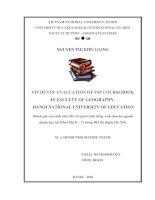 Students' evaluation of ESP coursebook in Faculty of Geography, Hanoi National University of Education = Đánh giá của sinh viên đối với giáo trình tiếng Anh chu