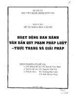 Hoạt động ban hành văn bản quy phạm pháp luật - Thực trạng và giải pháp