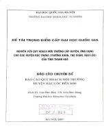 Nghiên cứu quy hoạch môi trường cấp huyện, ứng dụng cho các huyện đặc trưng (Thường Xuân, Thọ Xuân, Hậu Lộc) của tỉnh Thanh Hóa báo cáo quy hoạch môi trường huy152610