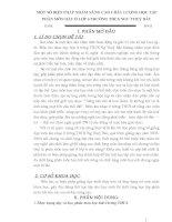 SKKN MỘT SỐ BIỆN PHÁP NHẰM NÂNG CAO CHẤT LƯỢNG HỌC TẬP PHÂN MÔN HÁT Ở LỚP 6 TRƯỜNG THCS NGƯ THUỶ BẮC