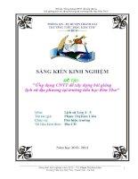 skkn ĐỀ tài ứng dụng CNTT để xây dựng bài giảng lịch sử địa phương tại trường tiểu họcn trương tiểu học kim thư
