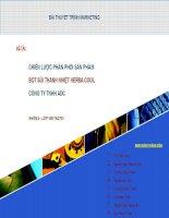 chiến lược phân phối sản phẩm bọt sủi thanh nhiệt Herbal Cool