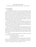 TỔ CHỨC HOẠT ĐỘNG NHÓM TRONG DẠY  NGỮ VĂN THCS