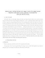 SKKN PHÁT HUY TÍNH TÍCH CỰC HỌC TẬP CỦA HỌC SINH TRONG GIỜ NGỮ VĂN 6 BẰNG CÁCH DÙNG TRANH MINH HỌA