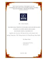 Teaching essay writing to English language specializing student at Le Hong Phong specialised Secondary School Nghiên cứu việc dạy viết luận cho học sinh chuyên