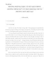 SKKN Phương pháp dạy học văn bản kịch trong chương trình Ngữ văn thcs theo đặc trưng phương thức biểu đạt