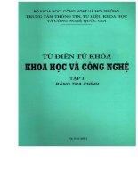 Ebook Từ điển từ khóa khoa học và công nghệ Tập 1 Bảng tra chính (Phần 1) - Bộ Khoa học Công nghệ và môi trường