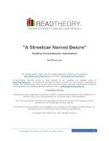 Bài tập luyện đọc Tiếng Anh A Streetcar Named Desire