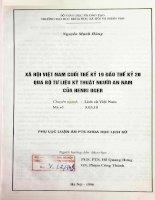 Xã hội Việt nam cuối thế kỷ 19 đầu thế kỷ 20 qua bộ tư liệu kỹ thuật người An nam của Henri Oger phụ lục luận án PTS khoa học Lịch sử